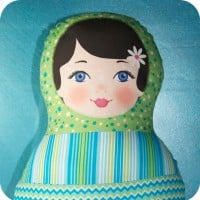 Crafty projects for children; Ooshka Babushka Matryoshka Doll.