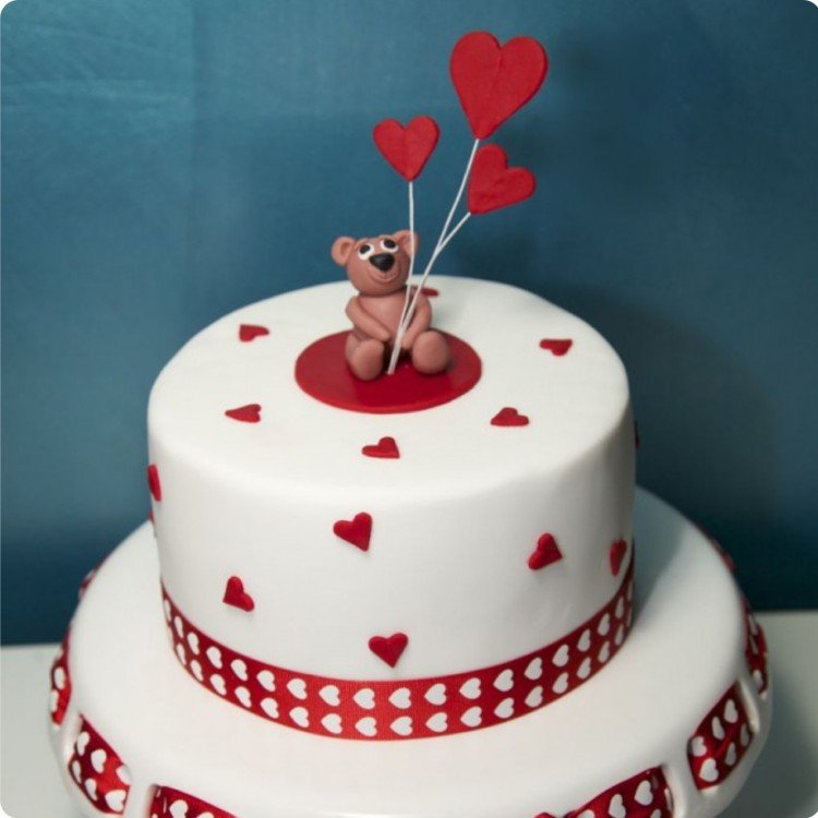 Send some love with this cute Teddy cake.