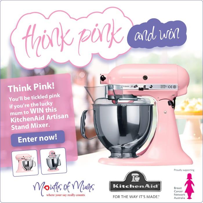 WIN a Pink KitchenAid Artisan Stand Mixer worth $795