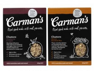 Carman's Cranberry & Apple Muesli Clusters and Honey Roasted Nut Muesli Clusters