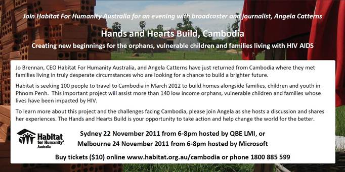 Habitat For Humanity Cambodia Event Invitation