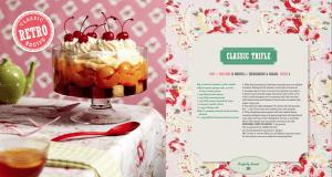 Retro Cookbook Classic Trifle