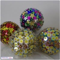 D.I.Y. Sequin & Bead Christmas Balls