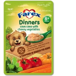 Farex Dinners Product Review – Cous Cous with Cheesy Vegetables