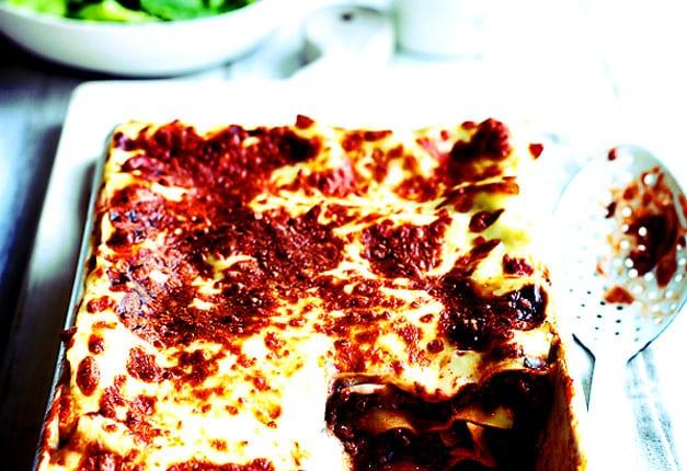 Healthier beef lasagne