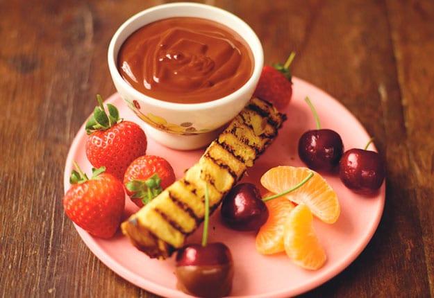 Jamie Oliver Boozy Chocolate & Cherry Fondue