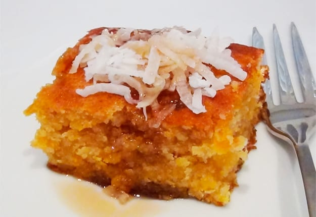 Moist Apricot and Coconut Cake