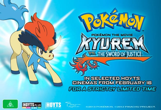 Win 1 of 5 Pokémon the Movie: Kyurem vs. The Sword of Justice packs