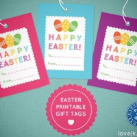 Free Easter gift tag download from Love JK