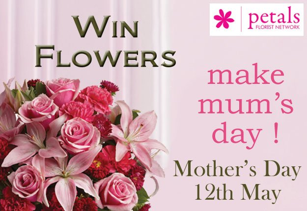 Win 1 of 5 Mother's Day prize bouquets