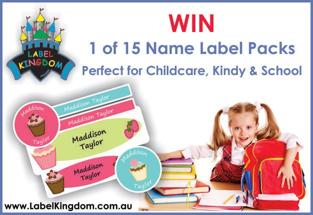 Win 1 of 15 Label Kingdom personalised packs