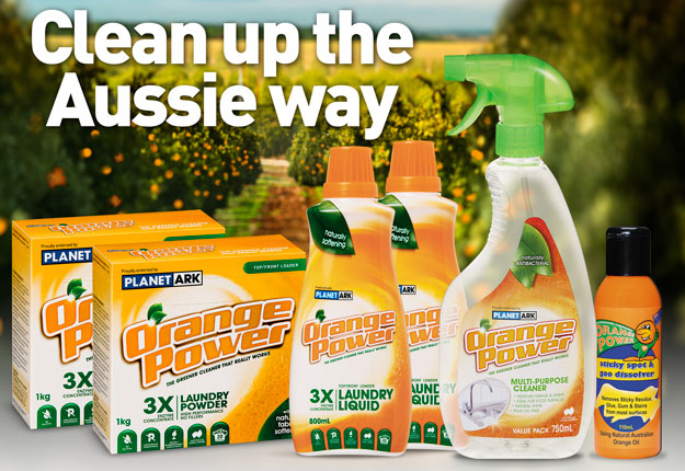 Win 1 of 12 Spring Cleaning prize packs by Orange Power