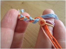 making a friendship necklace