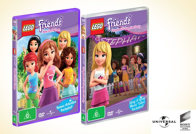 WIN 1 of 15 LEGO ® Friends DVD prize packs