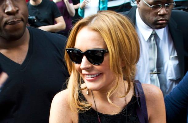 Lindsay Lohan talking on Oprah