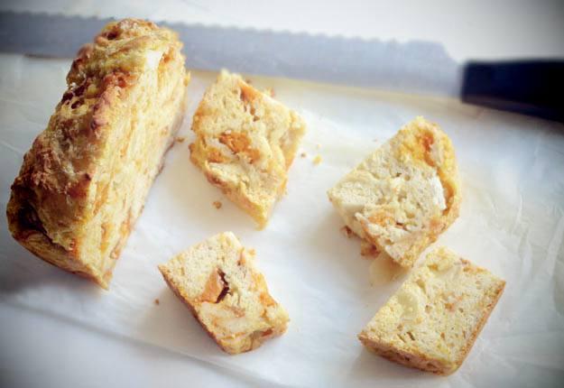 Roast pumpkin, feta and parmesan savoury loaf recipe