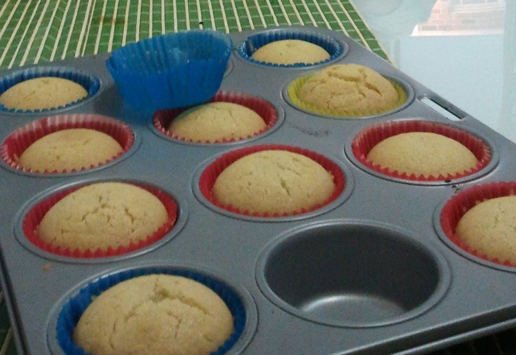 Dairy free, soy free, egg free and nut free vanilla cupcakes