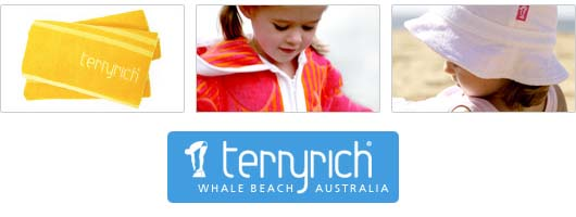 product range by Terry Rich beachwares