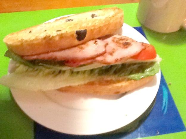Bacon, lettuce & tomato toasted sandwich