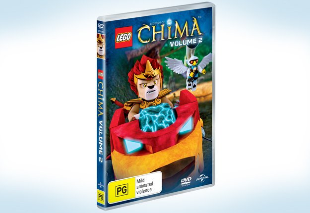 WIN 1 of 25 LEGO Legends of CHIMA: Volume 2 DVD's