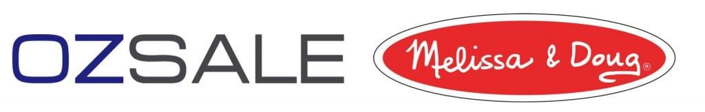 ozsale logo and melissa and doug logo