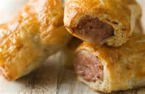 Savoury Peach Sausage Rolls
