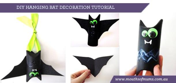 diy hanging bat tutorial, riot arts and crafts