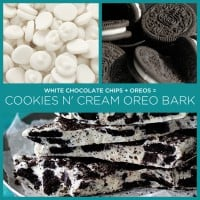 Cookies and Cream Oreo Bark! Easy and yummy!