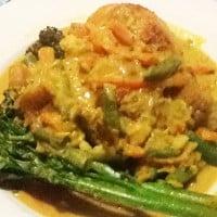 One pot satay chicken dinner