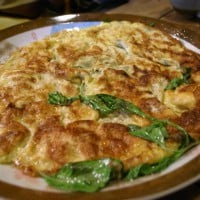 Fried eggs with Heeeeaps of basil