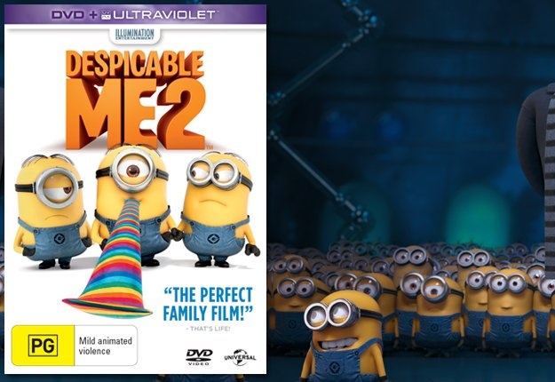 WIN 1 of 15 Despicable Me 2 DVDs
