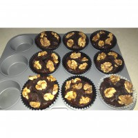 Rich Cacao Walnut muffins