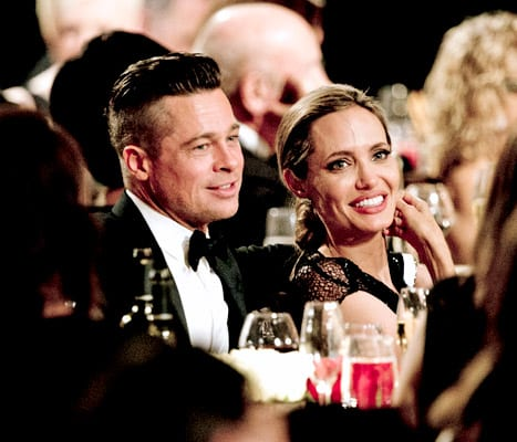 Angelina Jolie and Brad Pitt at the 2013 Governors Awards.