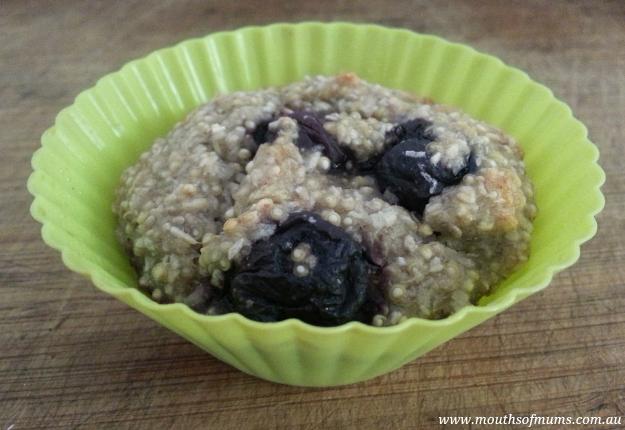 Vegan banana berry muffin recipe