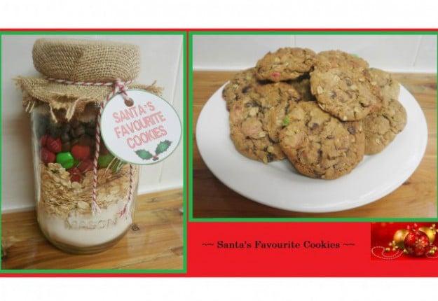 Santa's Favourite Cookies In A Jar
