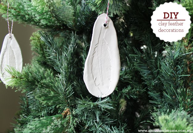 How to make clay feather decorations