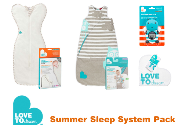WIN 1 of 4 Love To Dream™ Summer Sleep Packs