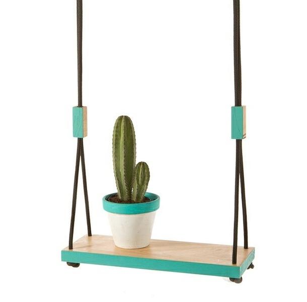 garden swing, turquoise, cactus