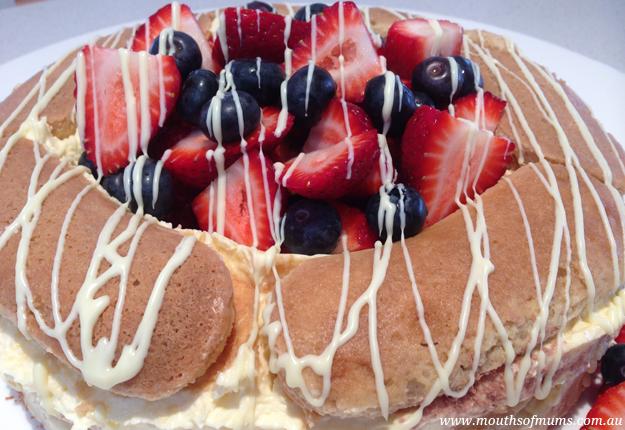 Upside Down Tiramisu Cake
