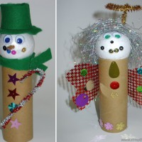 DIY Christmas puppets