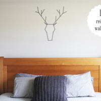 How to make a washi tape reindeer wall decal