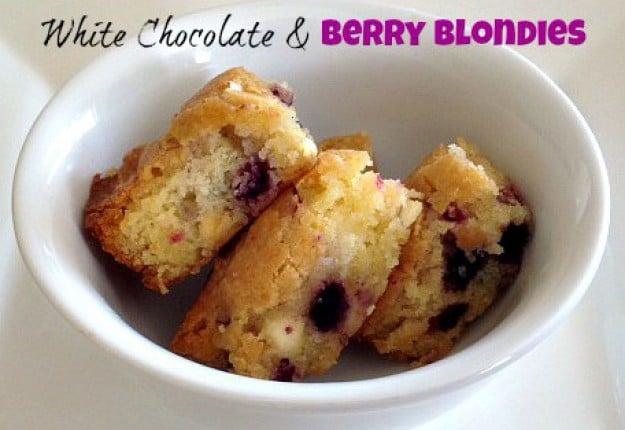 White Chocolate & Berry Blondies
