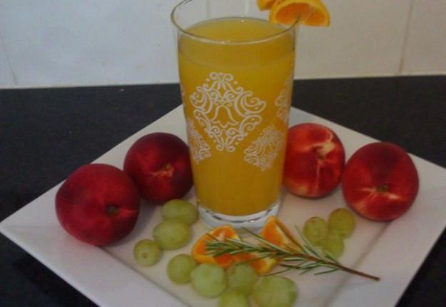 Tropical breakfast juice.