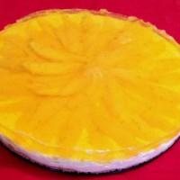 Mango and Lime Jelly Cheesecake