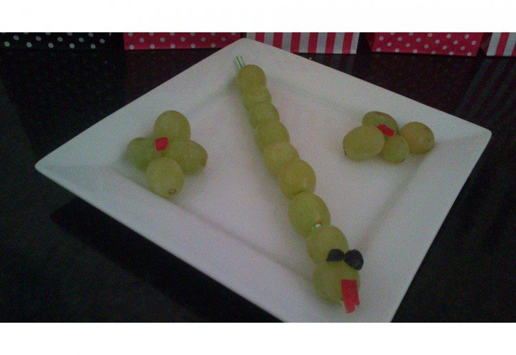 grape worm. (Great for toddler parties)
