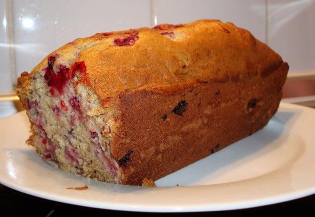 Raspberry and Apple Bread