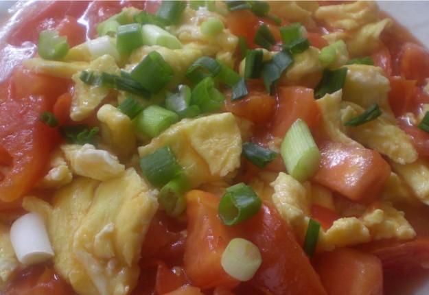 Chinese egg tomato stir fry