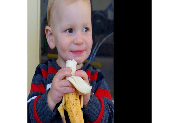 Easy banana ice blocks