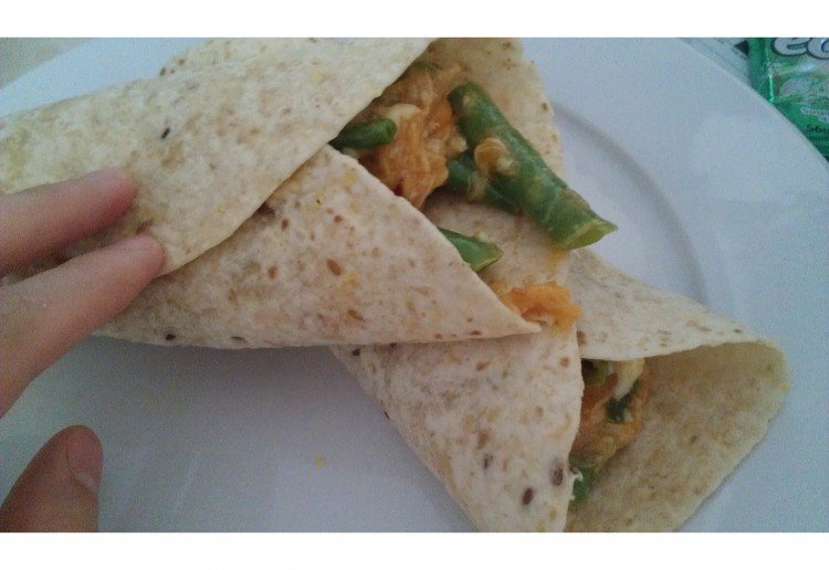 Chicken and beans wrap