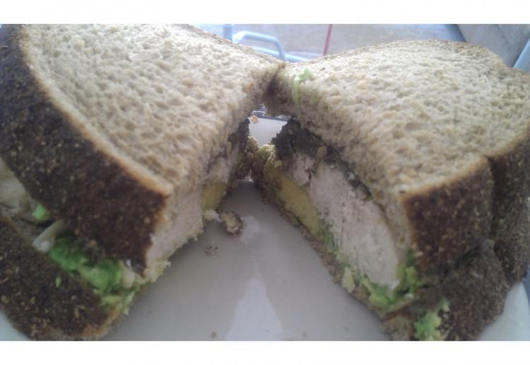 Chicken sandwich with Homemade Green Olive tapenade